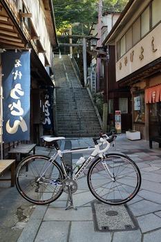 石階段とキャノンデール