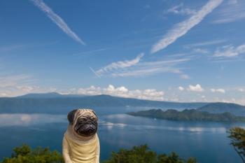 発荷峠から十和田湖