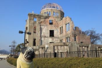 原爆ドームとくんぺい