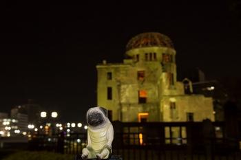 夜景原爆ドームとくんぺい