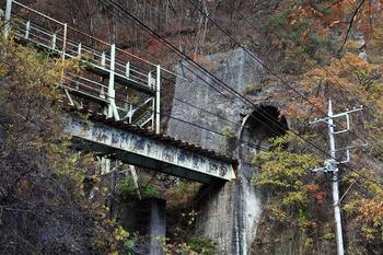 樽沢トンネルと鉄橋
