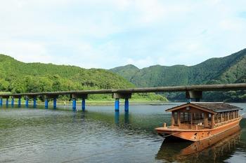 佐田沈下橋と船