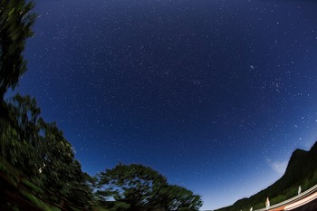 榛名山の星空